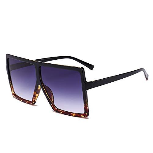 YOULIER Gafas de sol cuadradas de moda para mujer retro de gran tamaño marco tendencia conducción gafas de sol de los hombres Uv400 Multicolor opcional 5511-2