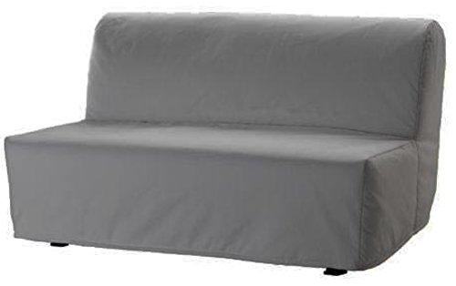 Sofa Renewal Lycksele Lovas Schlafsofa Abdeckung Ersatz ist nach Maß für Ikea Lycksele Sleeper oder Futon Slipcover. Keine Füllung, Nor Wadding leicht zu waschen Hellgrau Cotton