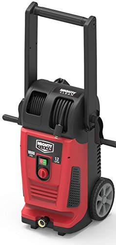 YARD FORCE MC1800 Electric Pressure Washer with Live Hose Reel and Turbo Nozzle, Red/Black