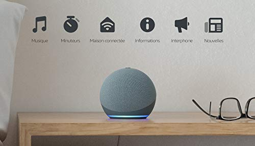 Echo Dot (4e génération), Enceinte connectée avec Alexa, Bleu-gris