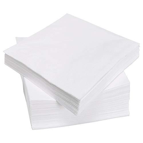 IKEA FANTASTISK - Serviette en papier, blanc / paquet de 100 - 40x40 cm