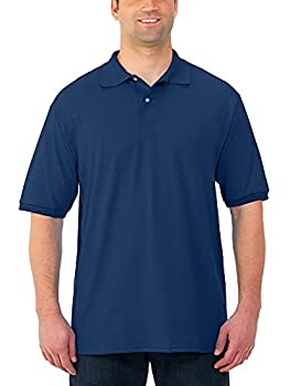 Jerzees Men s SpotShield Stain Resistant Polo Shirts  Short & Long Short Sleeve-Navy X-Large