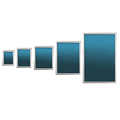 SECO Front Load Easy Open Snap Frame  Poster/Picture Frame 11 x 17 Inches, Silver Metal Frame (SN1117-SV) Photo #2