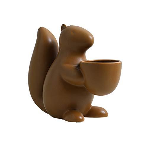 AFQHJ keramische decoratie, kleine eekhoorns, zoet, voor tafel, thee, fruittafel, knutselplaat, cadeau