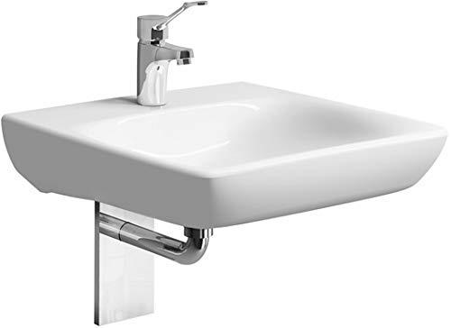 Keramag Renova Nr. 1 Comfort Waschtisch, unterfahrbar, 550x550mm, mit Hahnloch, ohne Überlauf, Weiss, 258557, Farbe: Weiß