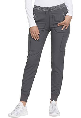 Dickies Dynamix Women Scrubs Pant Natural Rise Tapered Leg Jogger DK185, M, Pewter
