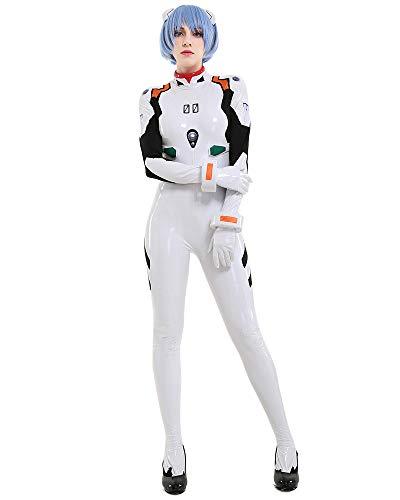 Cosplay.fm Damen Deluxe Rei Ayanami Cosplay Kostüm weiß Body mit Armbändern -  Weiß -  X-Large