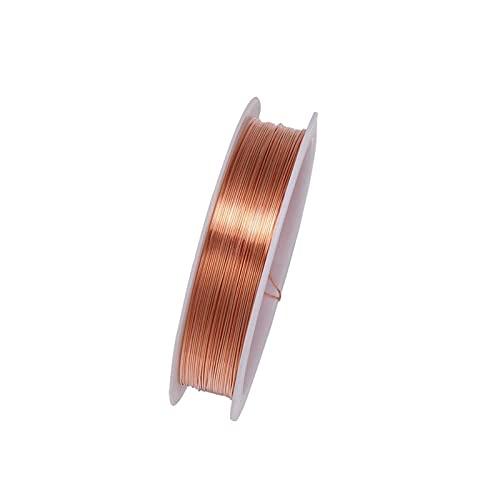 Artesanía de bricolaje 1 rollo resistente de aleación de oro aleación de alambre de alambre de alambre de metal para alambre de cuerda de bricolaje haciendo joyas para arte de uñas de bricolaje, abalo