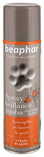 BEAPHAR – Spray brillance du pelage pour chien et chat – À l'huile de Jojoba – Assouplie et...