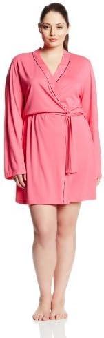 Cosabella Women's Bella Plus Size Long Sleeve Robe