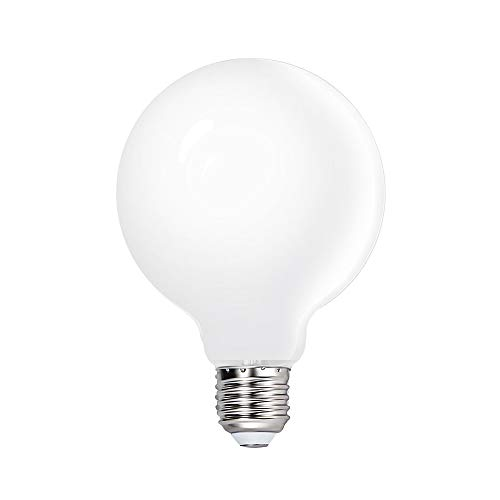 G95 LED Große Glühbirnen Birne Lampe 6W E27 Kaltweiß 5000K für Hängelampe Pendellampe, Omnidirektional Glas Lampenschirm Ersetzen 60W Glühlampen 1er Pack von Enuotek