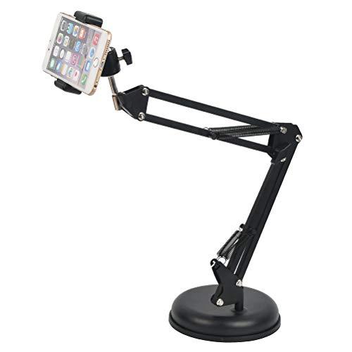 DODUOS Support de Webcam Regolabile con Base Supporto per Cellulari e Tablet Stand Asta di Sospensione Braccio a Forbici da Tavolo Staffa per Webcam Telecamera Mobile