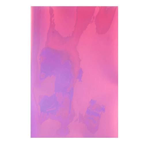 Milisten a4 pvc holographische klarfolie spiegelfolie holographische vinyl grafik stoff für schuhe tasche nähen patchwork diy bogen handwerk applique (rosa)