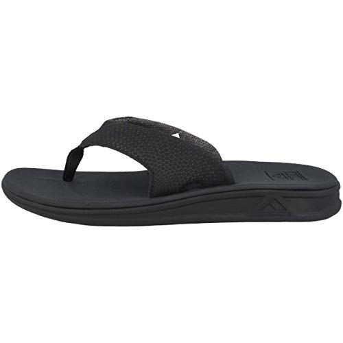 Reef Men's Sandals Rover | Water-Friendly Men's Sandal With Maximum Durability and Comfort | Waterproof, All Black, 9