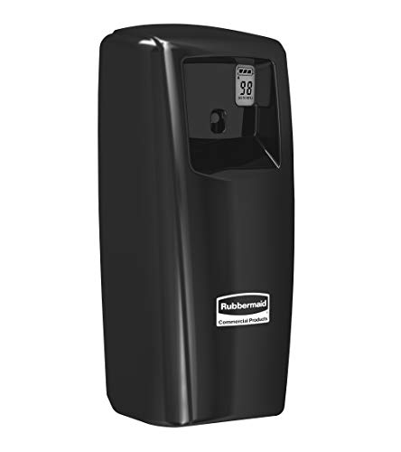 Rubbermaid Commercial Products 1793534 Microburst Metered Automated Odor-Controlling Aerosol Air Care System, MB9000 Dispenser, 9000 m, Black