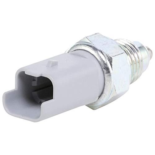 HELLA 6ZF 008 621-481 Interruptor, piloto de marcha atrás - 12V - Número de conexiones: 2 - Medida de rosca: M 14x1,5 - Contacto de cierre - gris