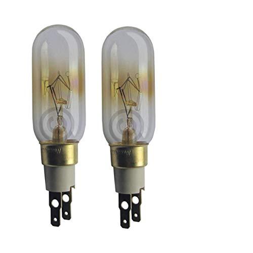 2 x 40 W T-Click pour réfrigérateur congélateur Whirlpool ampoule