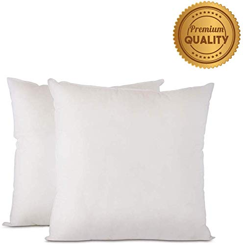 Buy Plankroad Home Decor 12x12x2 Outdoor Water Resistant Poly Boxed Pillow Insert, Breathable Shell,...