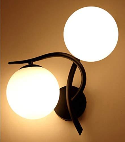Wandlamp van ijzer eenvoudig creatieve glazen bol rond woonkamer kunst eetkamer nachtkastje wandlamp gang