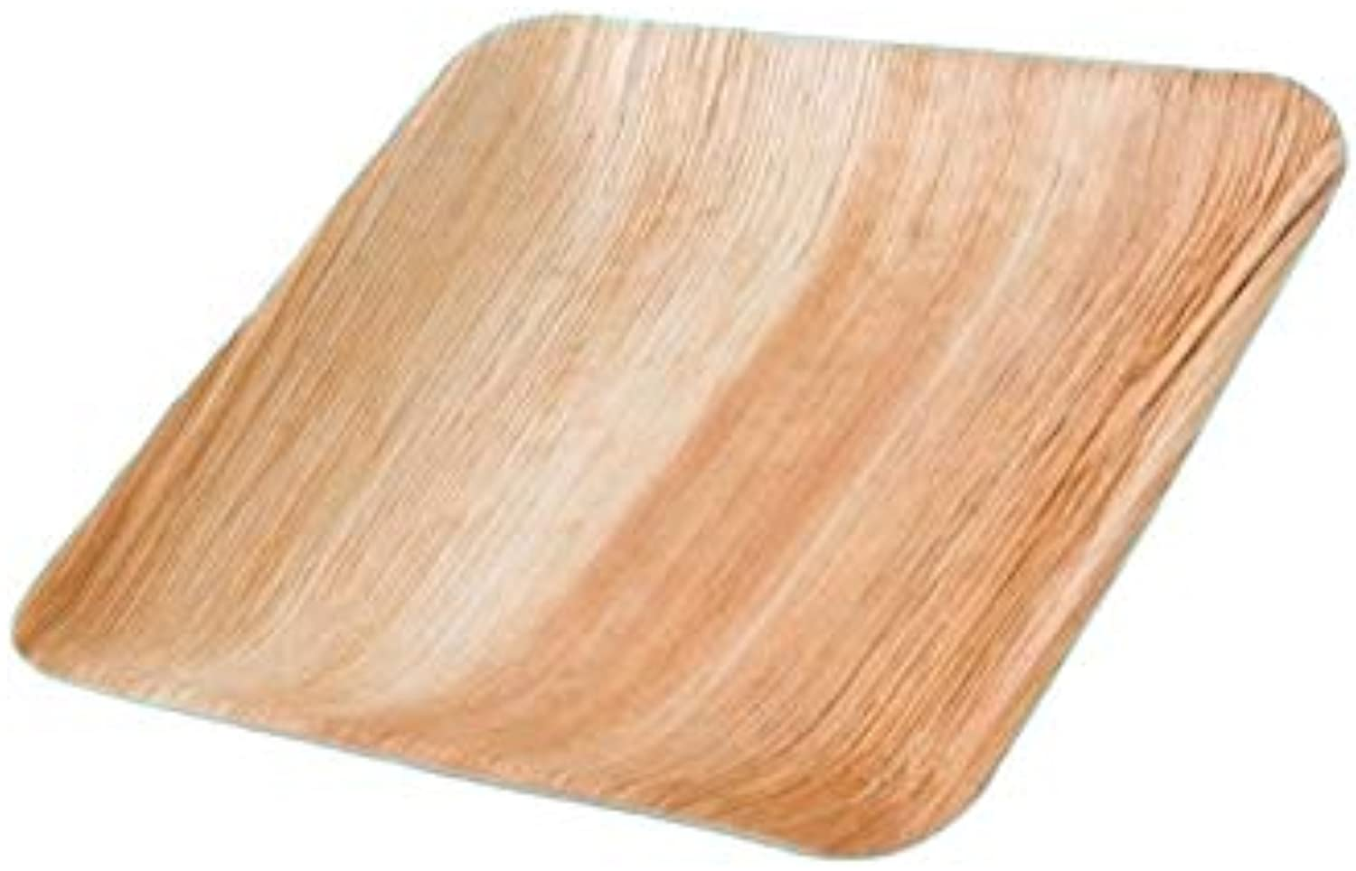 Pro DP 200 Organic Palm Leaf Plates Palm Leaves Finger Food Snack Plate Party Plates Square 20 x 20 cm (incl. DSD Fee)