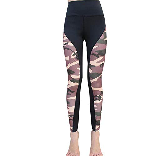Koupany Camouflage Dames Fitness Legging Flexibele Joggingbroek Hoge Taille Comfortabele Sportlegging Yoga Workout Sportbroek