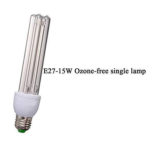 Preisvergleich Produktbild ZHDD Uv-entkeimungslampe,  Vier Röhren Mit Integrierter Lampe Reiner Uv-luftreiniger E27 15w 360 ° Uvc-sterilisator Ohne Totem Winkel,  Kompakte Ozondesinfektionslampe,  Für Den Heim Kantine