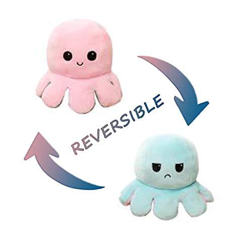 Canifom Octopus Puppe Plüschtier Reversibel Niedlich Octopus Kinder Plüsch Kreatives Geschenk Doppelseitige Puppe