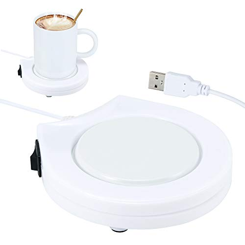 SOOTOP - Taza de café con USB, calentador de placa de calefacción eléctrica con aislamiento para uso de escritorio, placa calentador de café