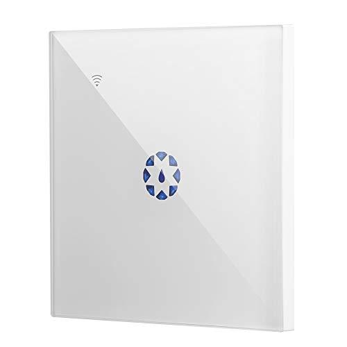 Smart Switch inalámbrico WiFi, mando a distancia, control inteligente de voz, hervidor de agua Touch Panel Switch. Blanco y negro, EU 95-250V