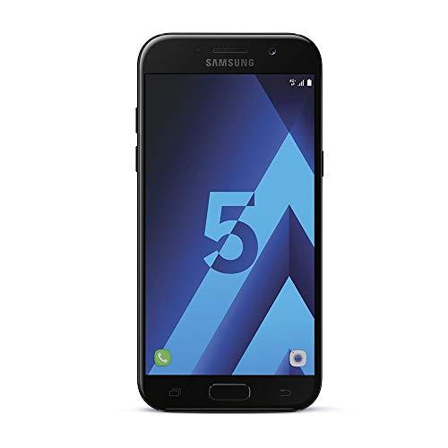 Samsung Galaxy A5 2017 Smartphone portable débloqué 4G (Ecran: 5,2 pouces - 32 Go - Nano-SIM - Android 6.0) Noir (Carte SIM européenne uniquement) (Reconditionné)