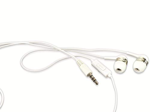 Dunlop In-Ear Headset, weiß, 1,2 m Headset, weiß, 1,2 m