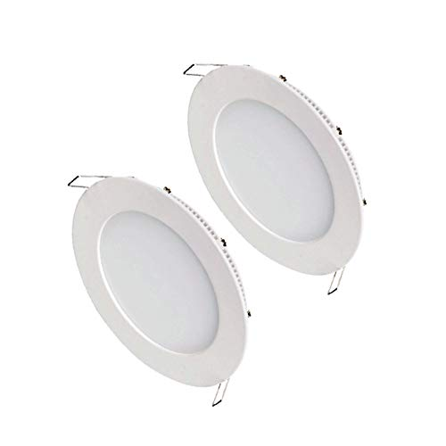 PACK 2 Led downlight empotrable 18w 1350lm 6000k Marco aluminio blanco Alta calidad