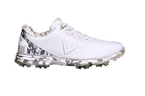 Callaway M580 Apex Coronado S, Zapatos de Golf Hombre, Blanco/Camuflaje, 42.5 EU