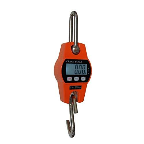 lqgpsx Escala de grua, 300kg/661lb - 1kg2.2lb With Back-Lit LCD High Accuracy Electronic Scales Luggage Scales (Color : Orange, Size : 200KG*0.05KG)