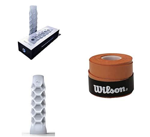 Grip Padel HESACORE Tour Grip + 1und overgrip Wilson Confort Naranja