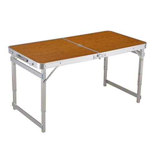WPLHH Mesa plegable al aire libre para camping, aleación de aluminio, mesa de picnic, impermeable, ultraligera y duradera, mesa plegable para picnic (color B), A (color: C)