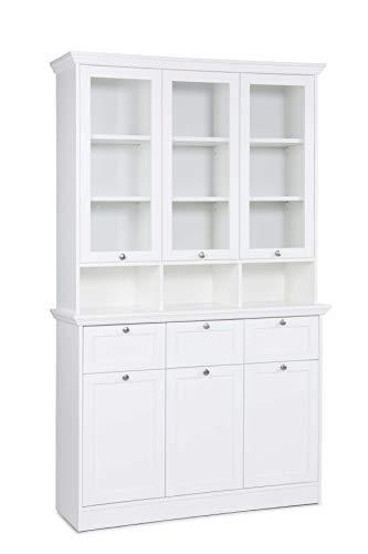Avanti Trendstore - Lando - Buffetschrank aus Holzdekor in weiß, Maße: BHT 120x200x40 cm