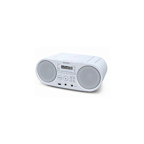 Sony ZSP-S50 CD/USB Radiorekorder (AM/FM), Weiß