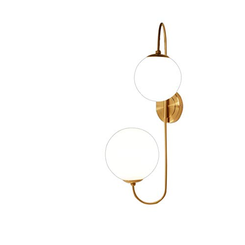 JYDQM Oro Moderno Lámpara de Pared Foyer Dormitorio de Noche Redonda Corredor Loft lámpara de Pared Grano de la Bola de Cristal de Pared de luz LED de la lámpara de Pared de la Bola