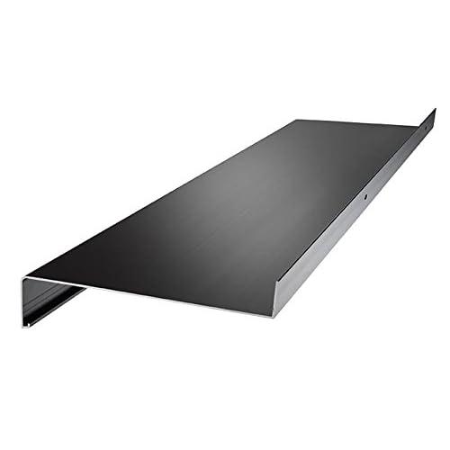Fensterbank 130 mm Tief 1200 mm Lang Ohne Seitenteile Silber