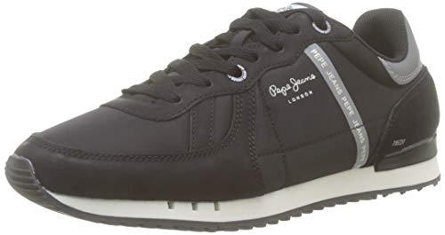 Pepe Jeans London Tinker Zero 19, Zapatillas para Hombre, Black 999, 42 EU