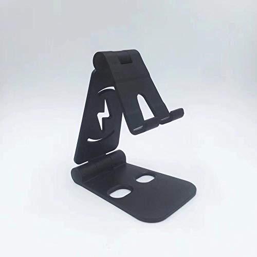 Telefoonhouder van metaal om in te klappen 301 dubbel zout (kunststof) zwart
