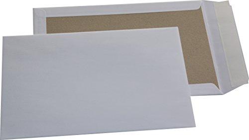 50 St. C4 Papprückwand Versandtaschen weiß 120 gr. Kuvert Haftklebend Briefumschläge HK Briefhüllen