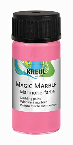 Kreul 73206 - Magic Marble Marmorierfarbe, 20 ml Glas in rosa, farbbrillante Tauchmarmorierfarbe für zufällige Musterungen und einzigartige Farbeffekte