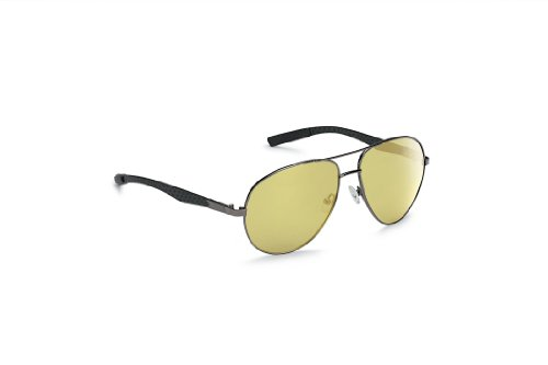 Callaway Transitions Flier II Neox Transitions Lens Golf Sunglasses, Black/Carbon Fiber