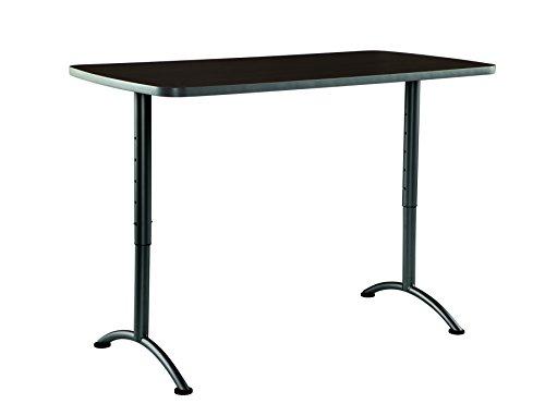 Iceberg ICE69314 ARC 5-foot Adjustable Height Rectangular Conference Table, 30' x 60', Walnut/Gray Leg