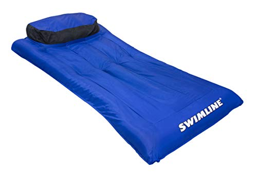 Swimline Ultimate Super-Sized Floating Mattress, Blue Black