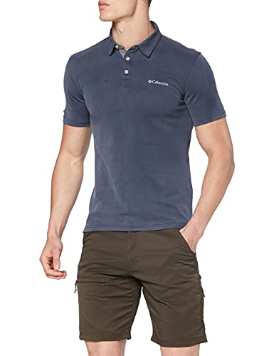 Columbia Nelson Point Polo manches courtes Homme Collegiate Navy FR: S (Taille Fabricant: S)