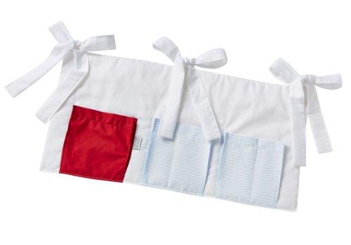 Christiane Wegner, compartimiento de almacenaje para colgar, 60 x 30 cm, blanco (weiß-hellblau-rot)