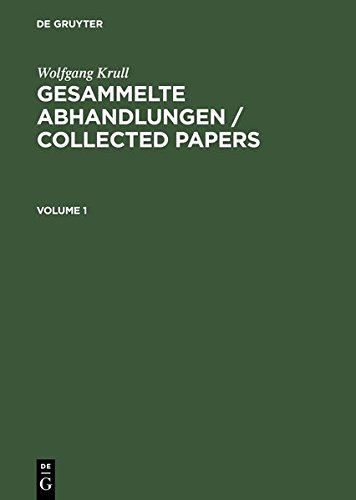 Gesammelte Abhandlungen Collected Papersの詳細を見る